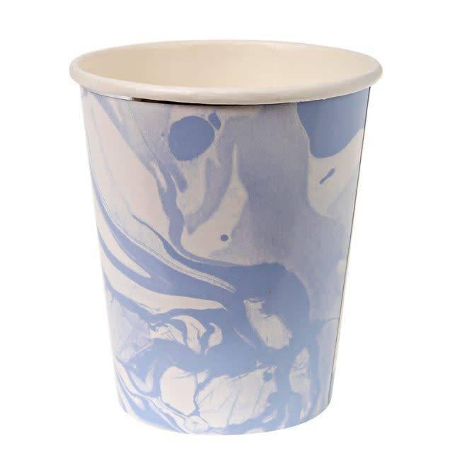 MERIMERI Marble blue party cups