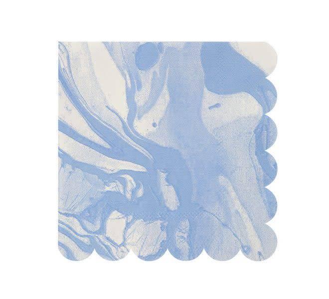 MERIMERI Marble blue napkins small