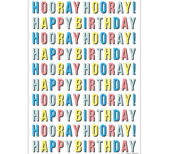 MERIMERI Birthday wrapping paper