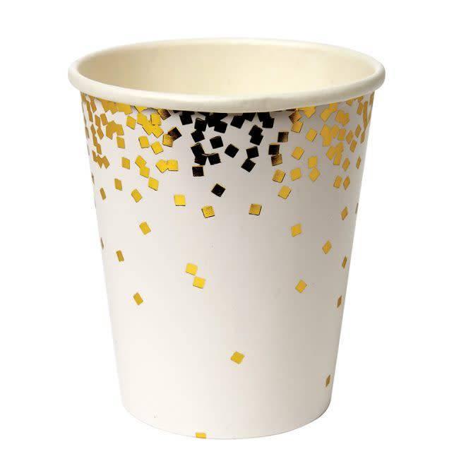 MERIMERI Gold confetti cups