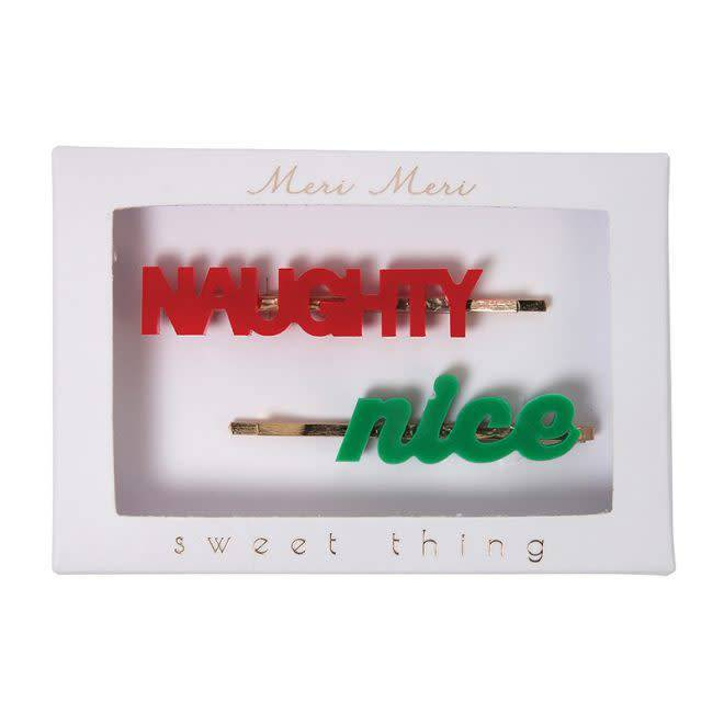 MERIMERI Naughty & nice hair clips