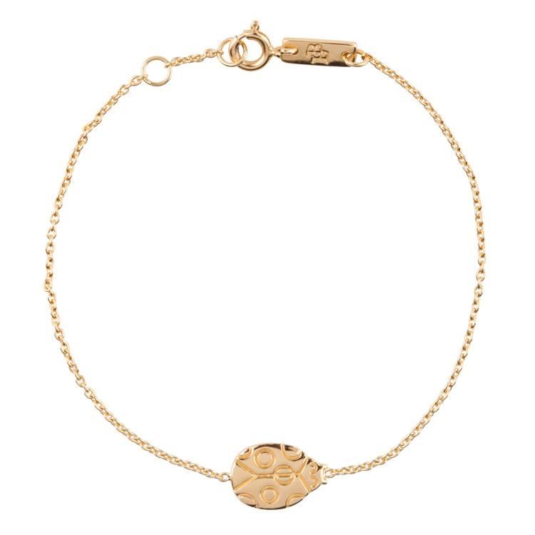 LENNEBELLE ladybug bracelet mother gold plated