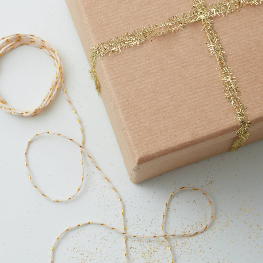 GINGERRAY gold mini tinsel ribbon and butcher twine