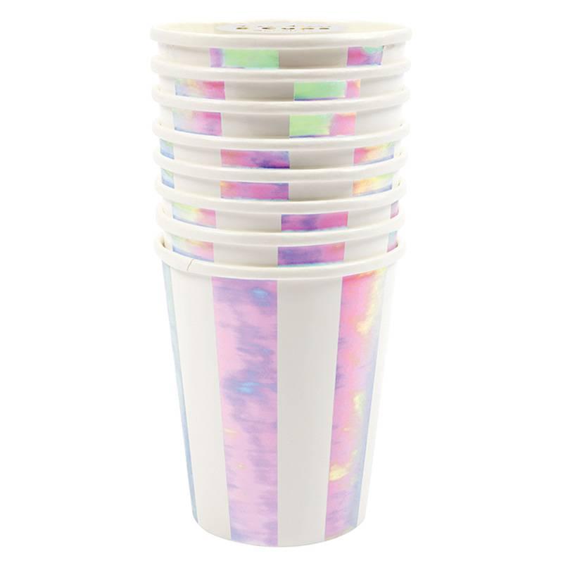 MERIMERI iridescent striped cups