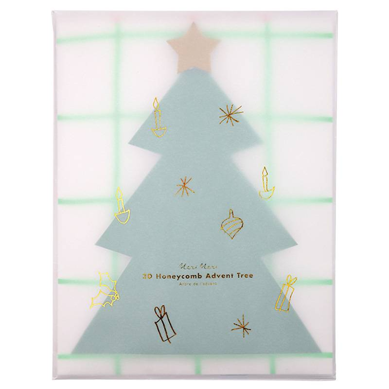 MERIMERI honeycomb tree advent calendar