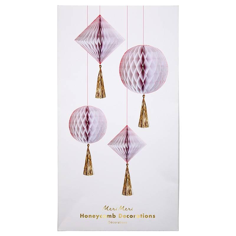 MERIMERI honeycomb decorations