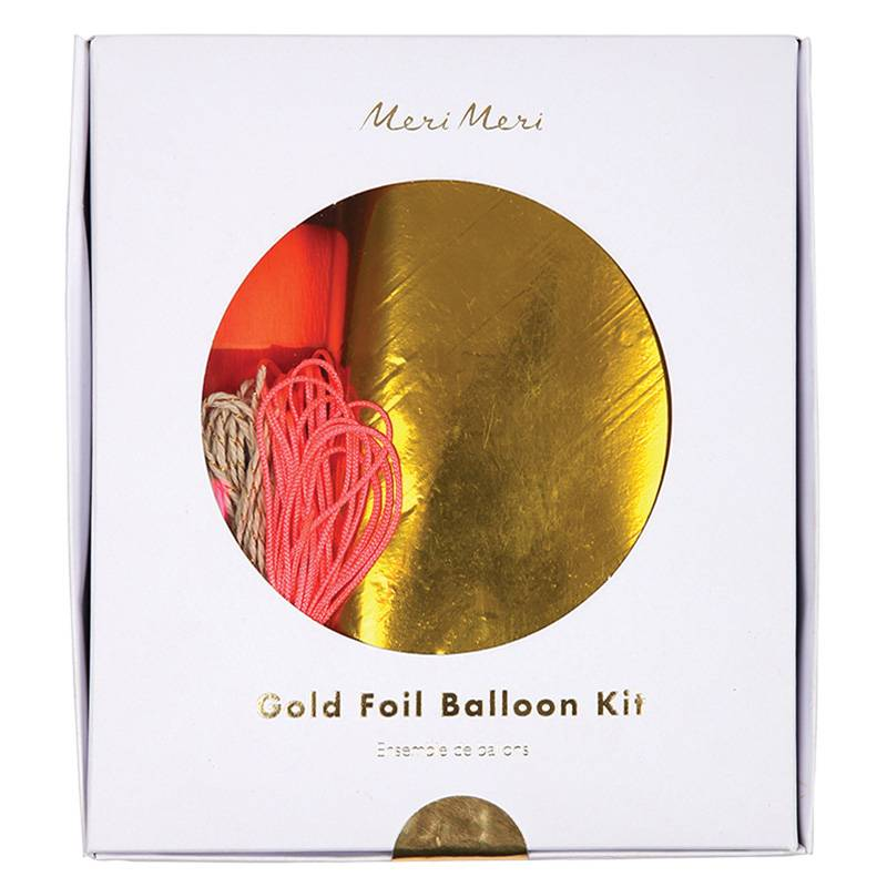 MERIMERI gold foil balloon kit