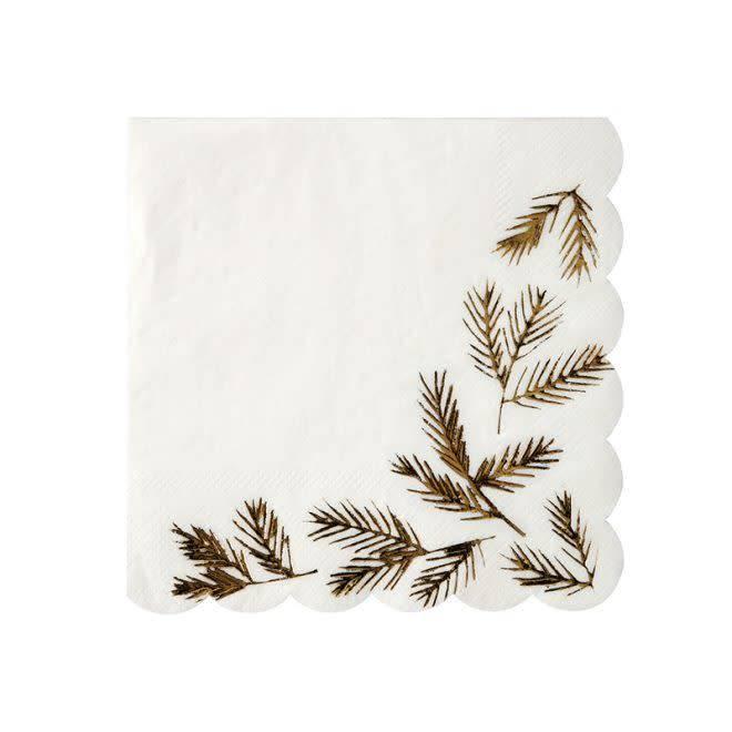 MERIMERI Gold pine napkins S