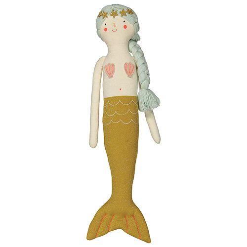 MERIMERI Knitted mermaid cushion