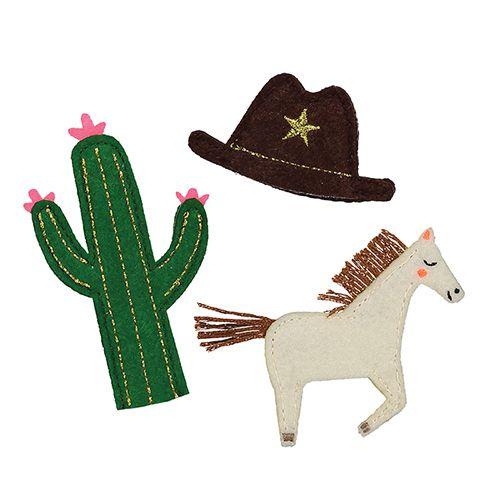 MERIMERI Wild west puppets