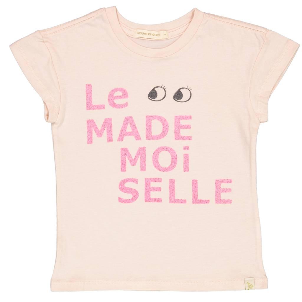 ATSUYO ET AKIKO le mademoiselle lara tee in peach 10 Y