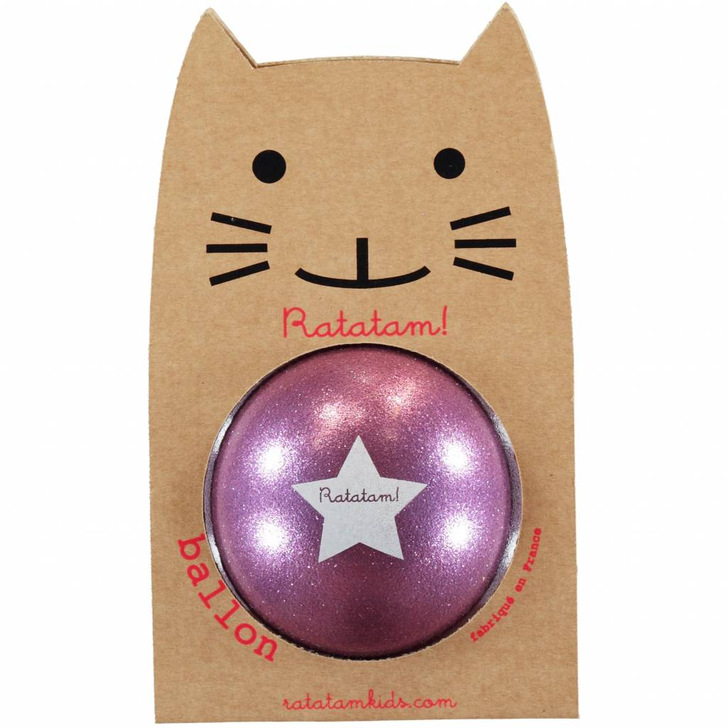 RATATAM ball violet paillettes