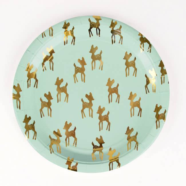 MY LITTLE DAY 8 paper plates golden fawn