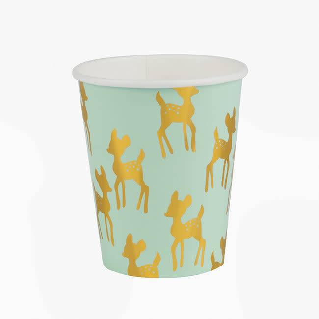 MY LITTLE DAY 8 paper cups golden fawn