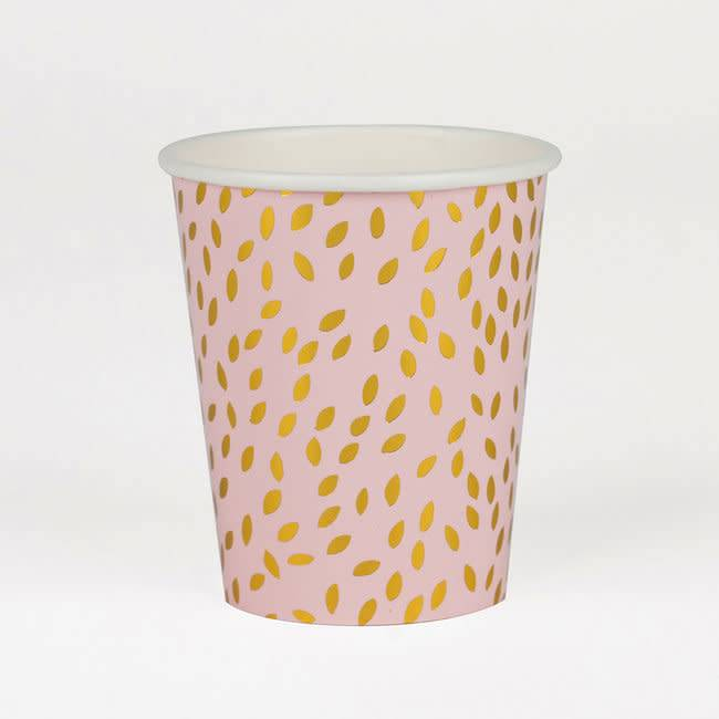 MY LITTLE DAY 8 paper cups golden seeds