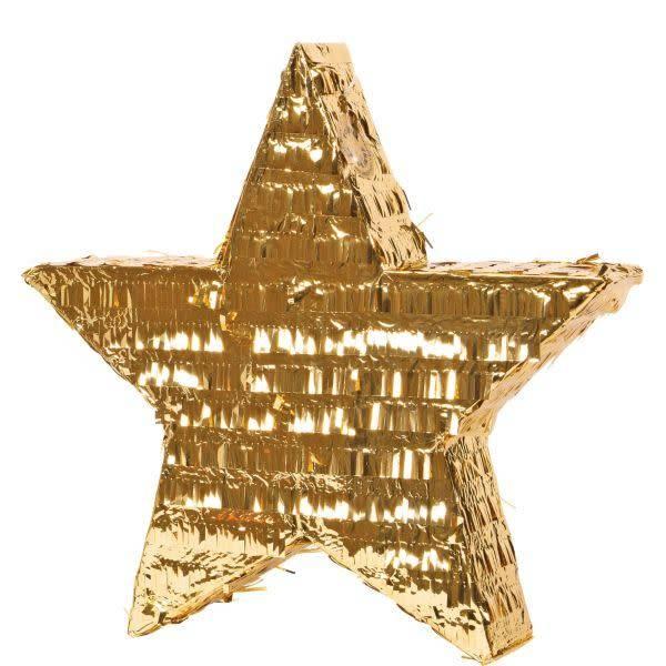 FT pinata gold star 45 cm.