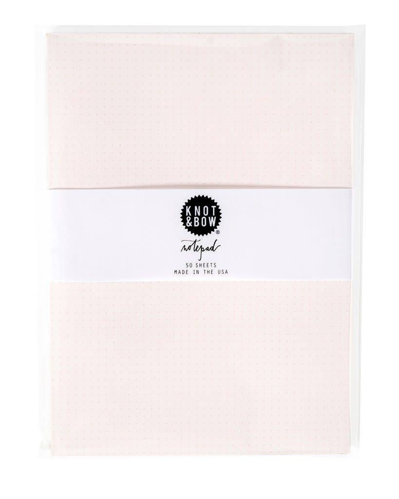 KNOT & BOW notepad pink dot