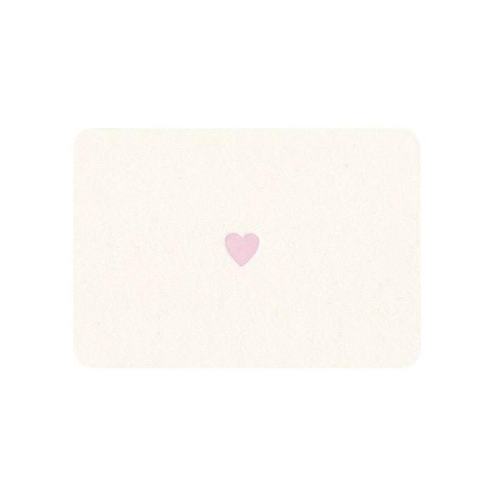 LE TYPOGRAPHE mini card pink heart