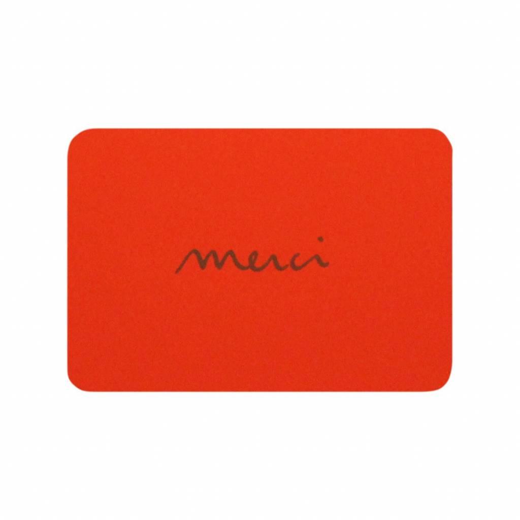 LE TYPOGRAPHE mini card merci orange
