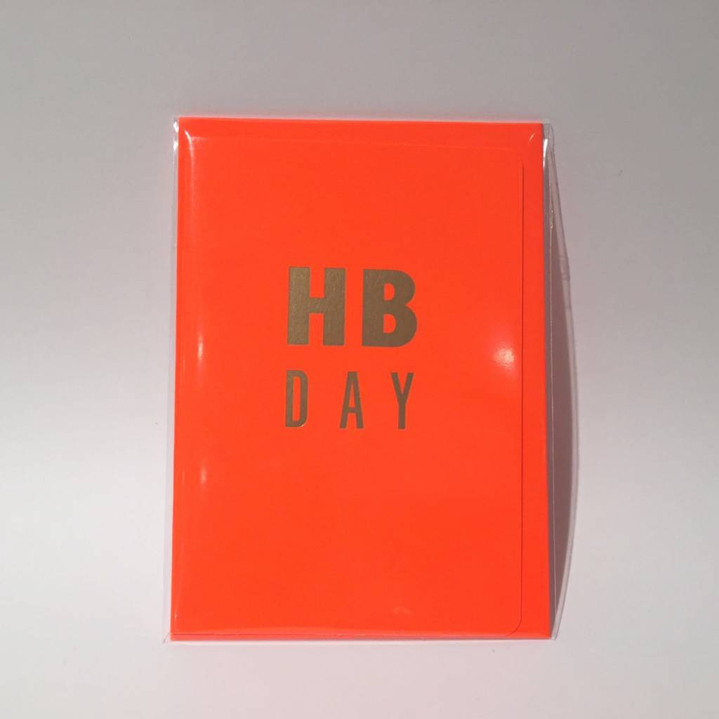 LE TYPOGRAPHE card - A6 - H B Day