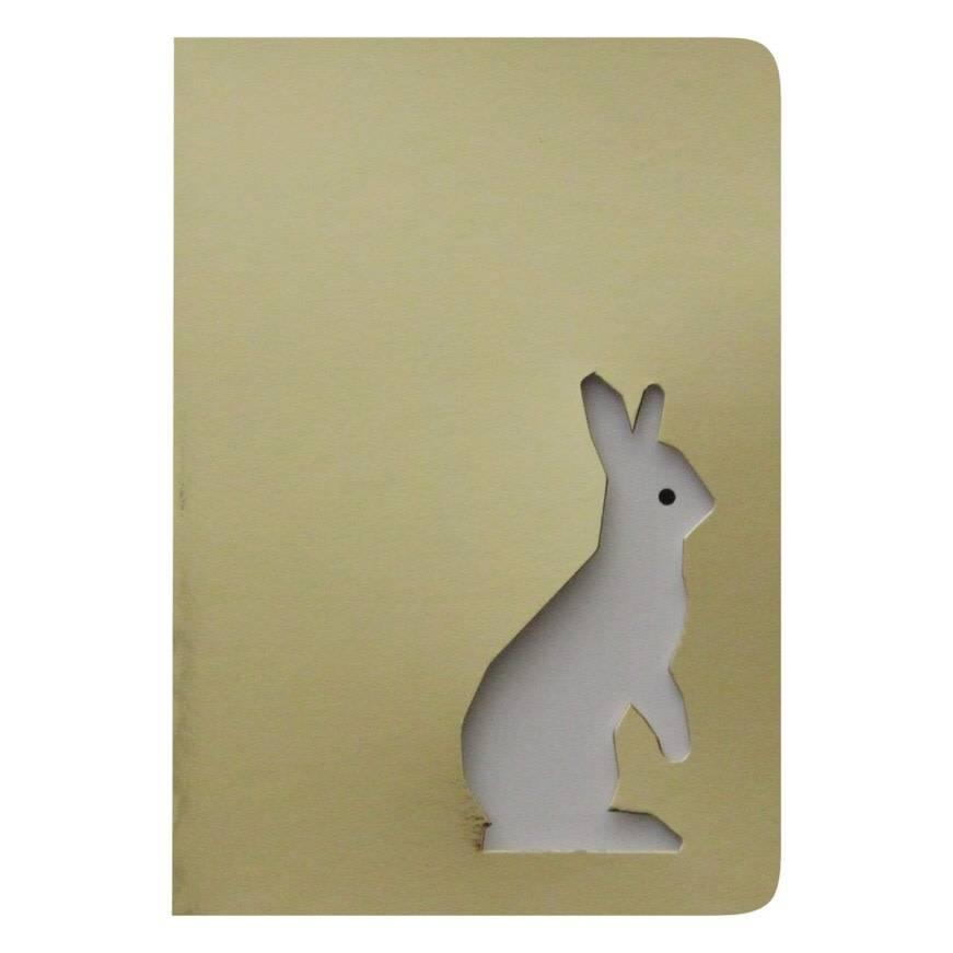 LE TYPOGRAPHE card - A6 - rabbit cut-out