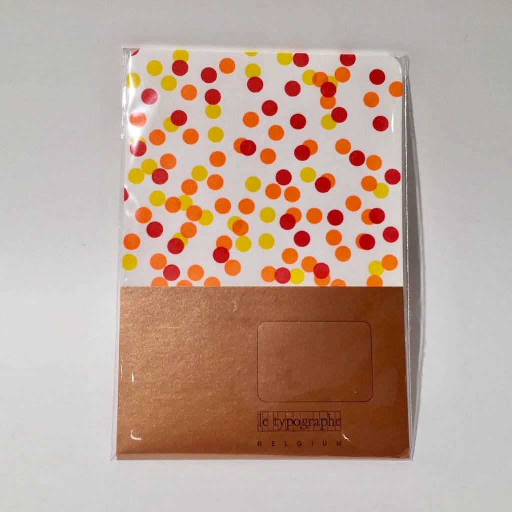 LE TYPOGRAPHE set of 5 cards - A6 - confetti