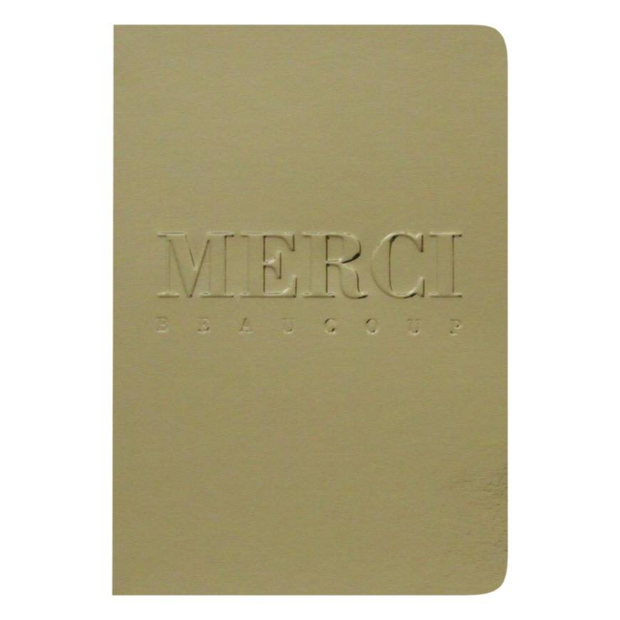 LE TYPOGRAPHE card - A6 - merci beaucoup gold