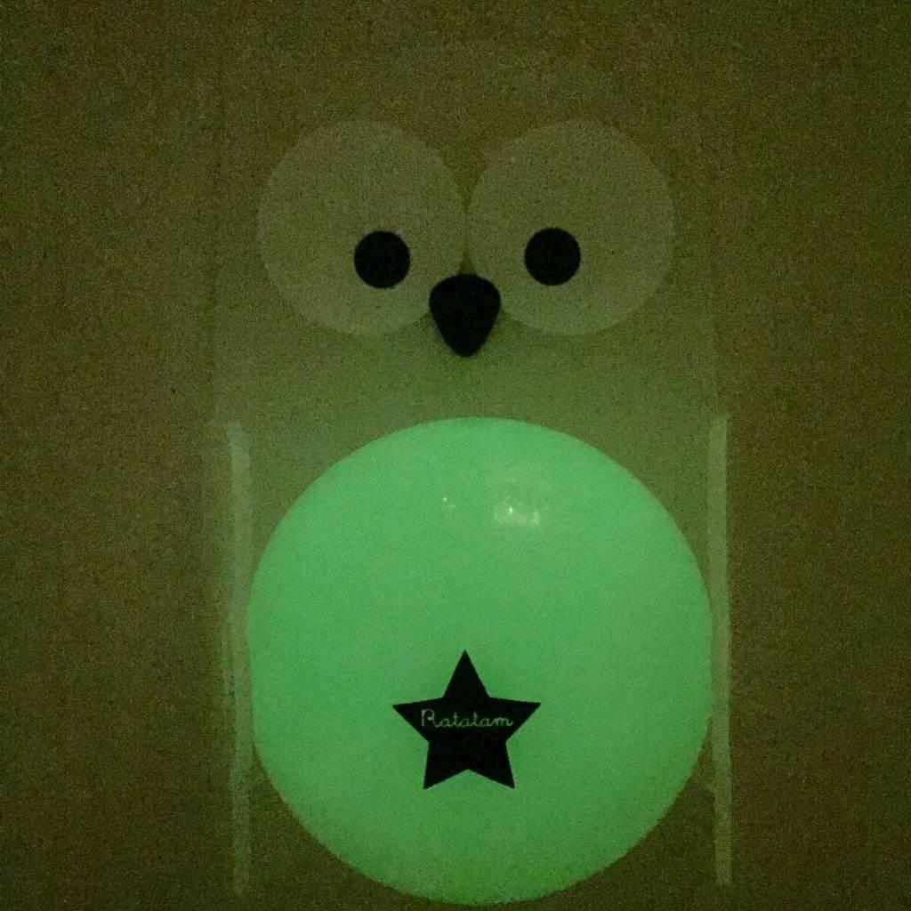 RATATAM glow in the dark owl + ball night lamp