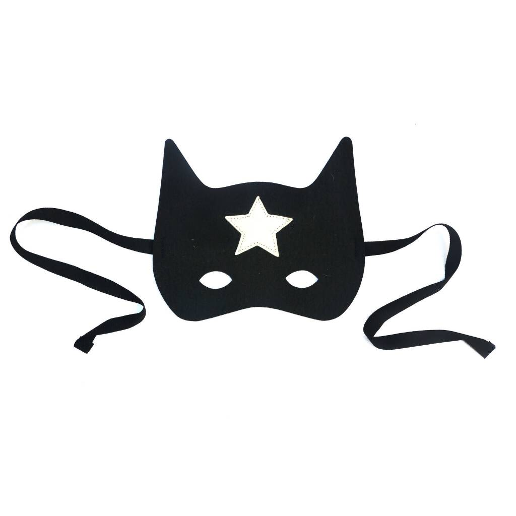 FRIDAS TIERCHEN black super hero mask