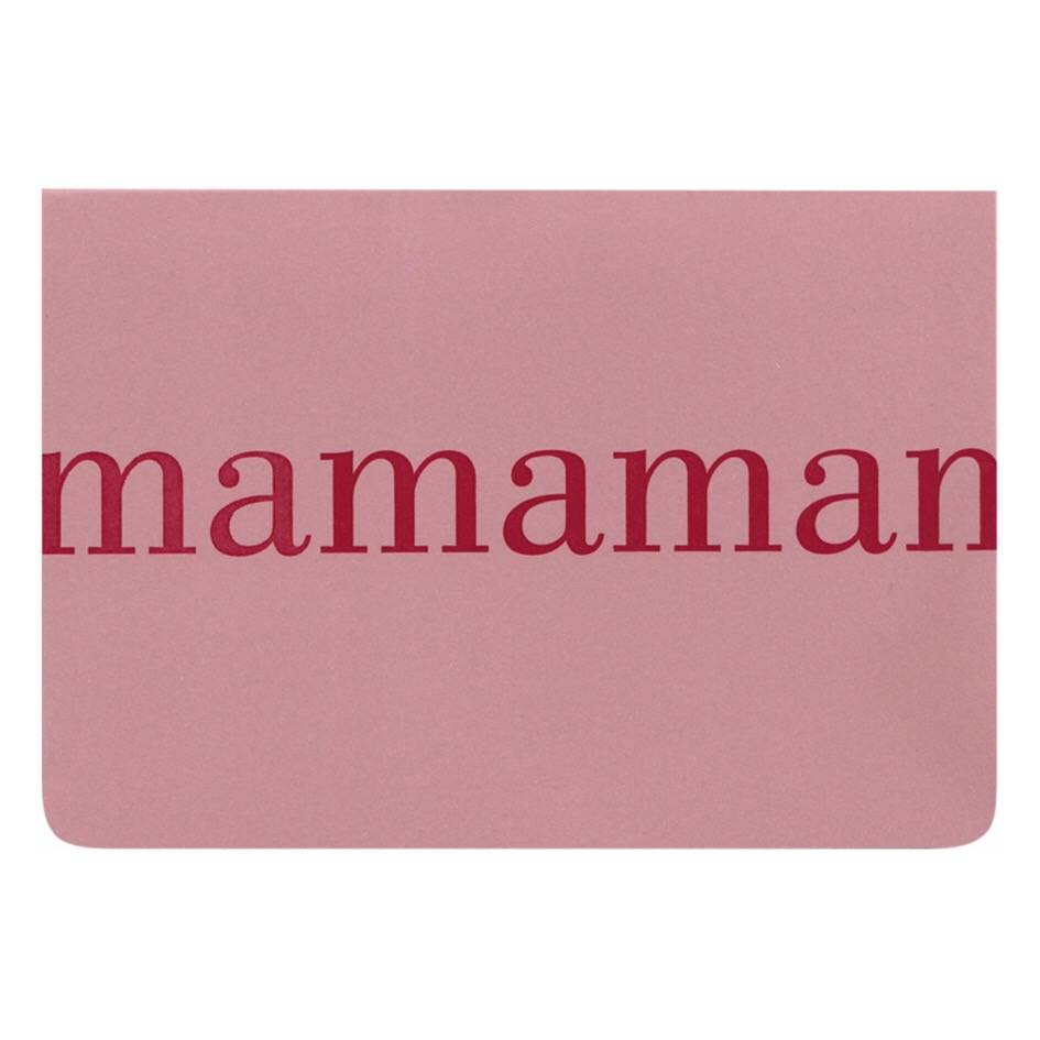 LE TYPOGRAPHE card - A6 - mamaman