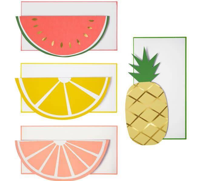 MERIMERI Fruit note cards