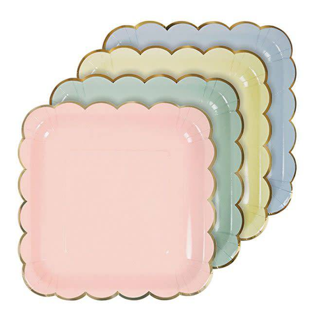 MERIMERI Pastel plates large