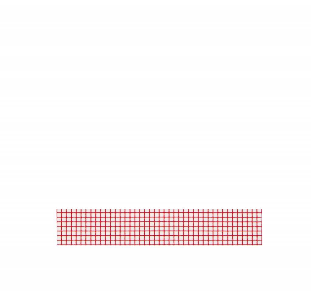 MADAM STOLTZ Tape, white/red check
