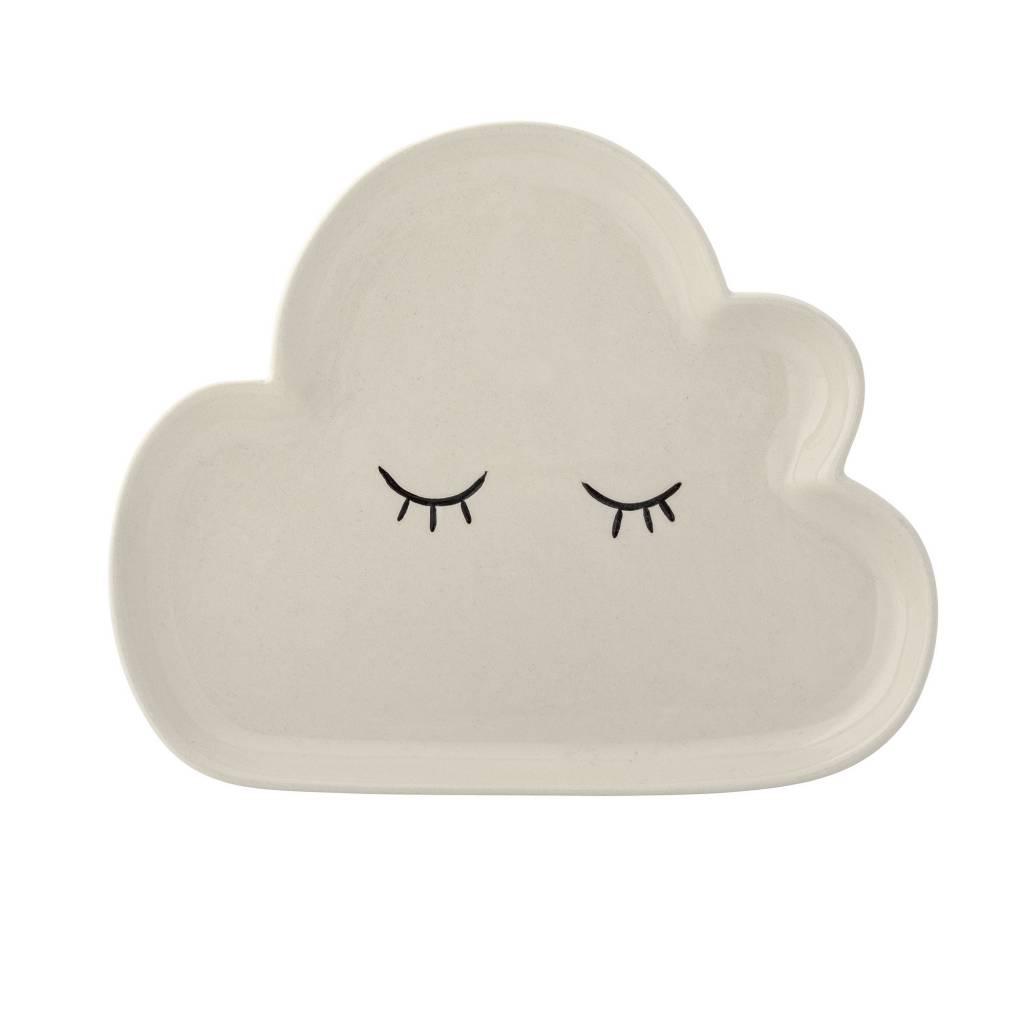 BLOOMINGVILLE cloud plate white stoneware