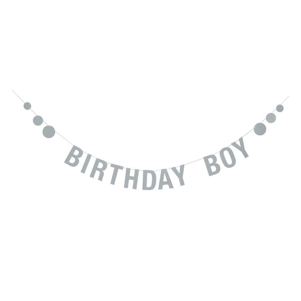 BLOOMINGVILLE birthday boy blue paper garland