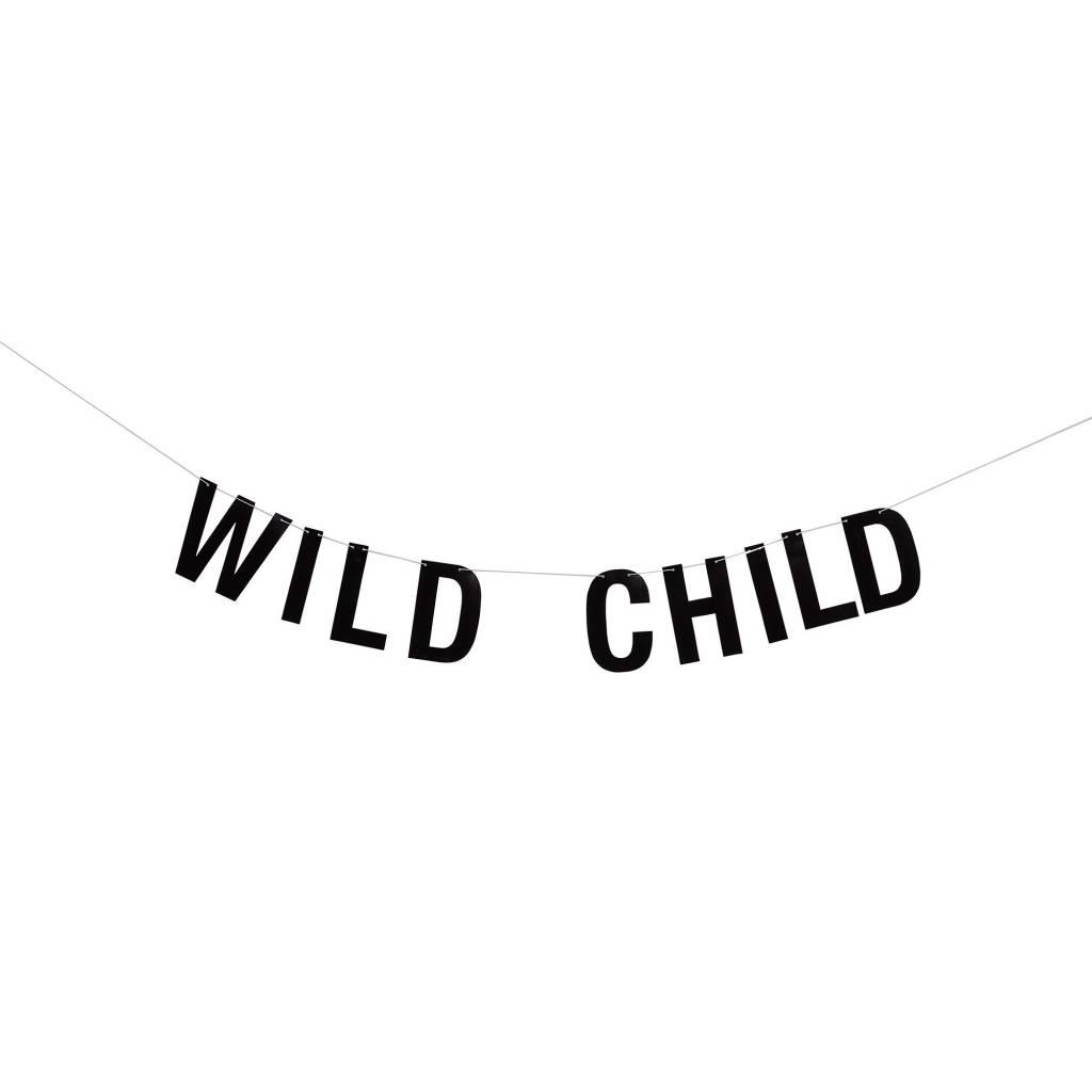 BLOOMINGVILLE wild child black paper garland