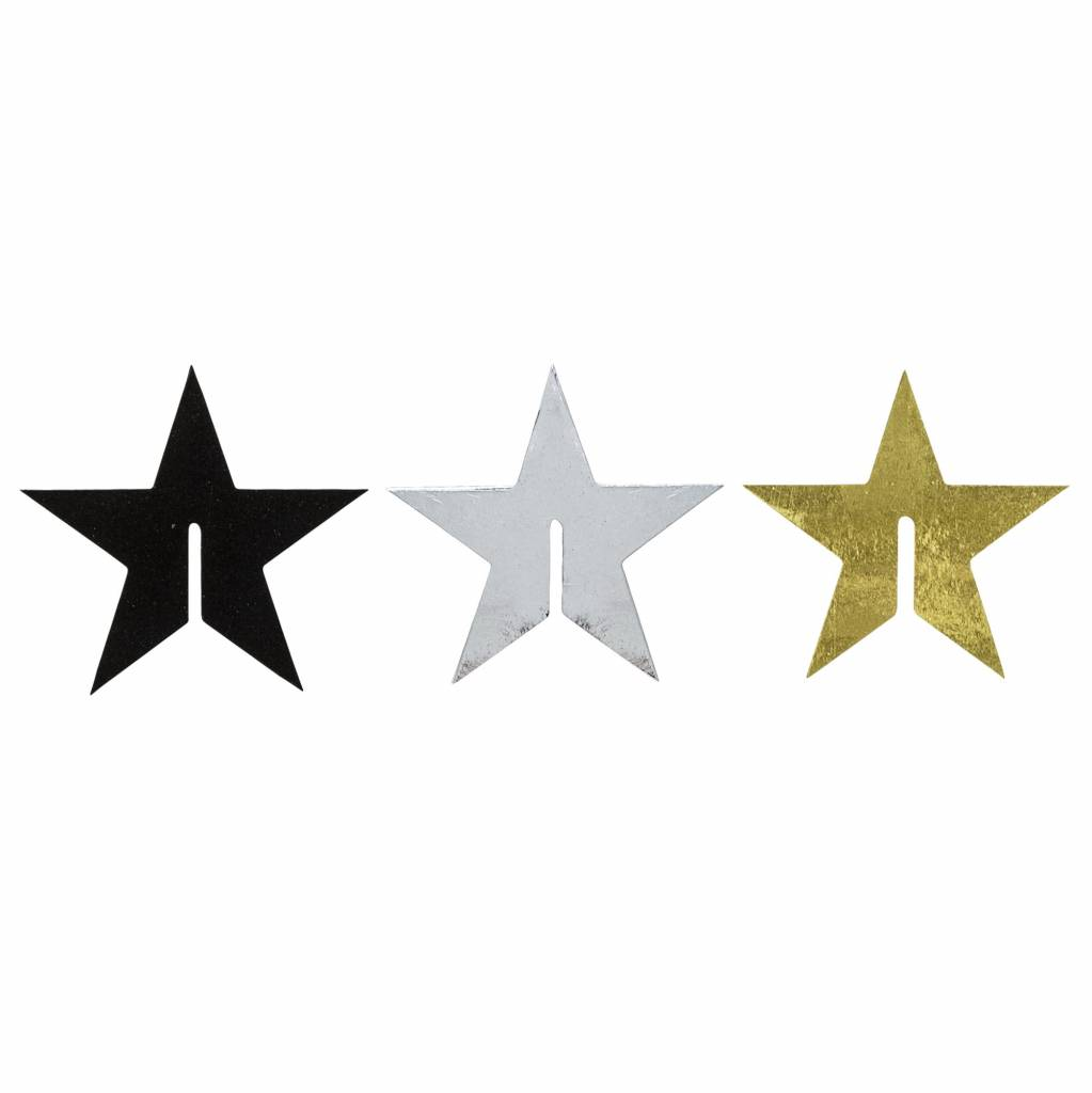 BLOOMINGVILLE cocktail glass paper star, black, silver, gold