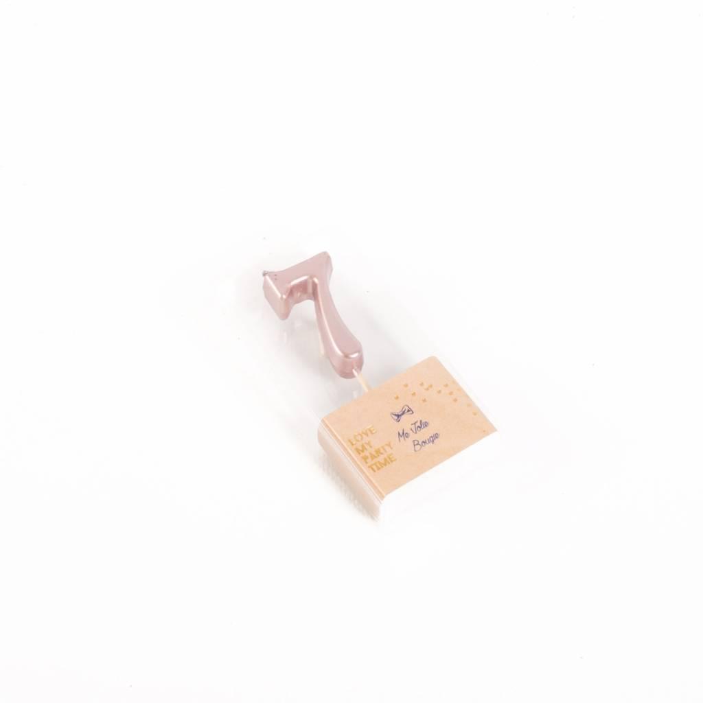 AF candle number 7 rose gold 4,3 cm