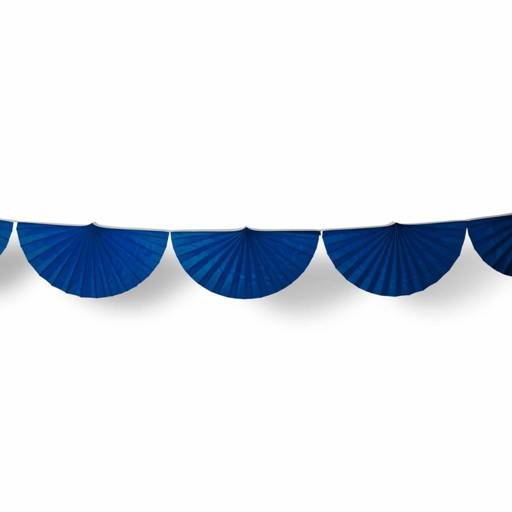 AF paper fan garland dark blue 3 m