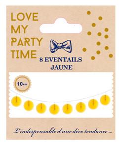 AF 8 mini pinwheels white 10 cm
