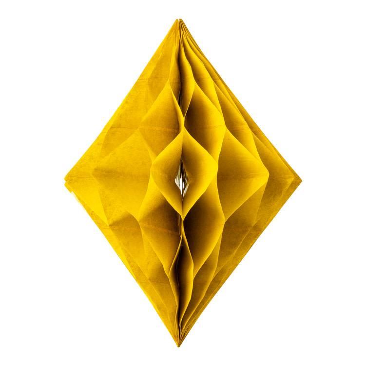 AF diamond shape honeycomb ocher 30 x 22 cm