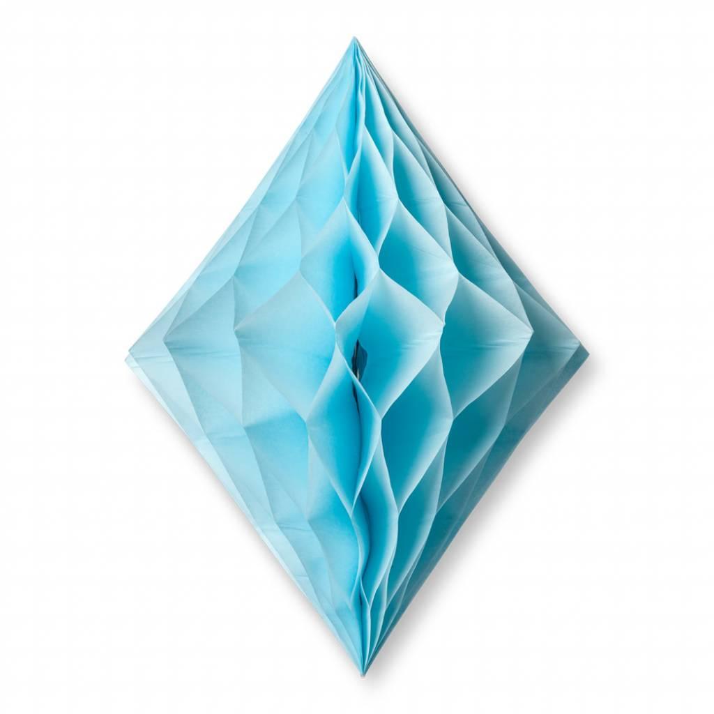 AF diamond shape honeycomb sky blue 30 x 22 cm