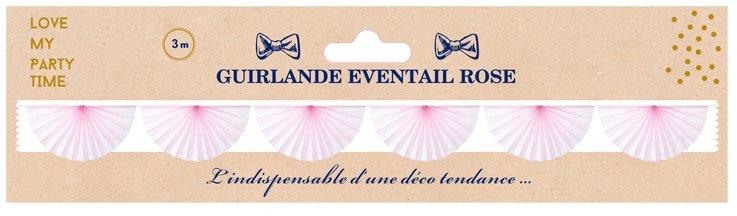 AF paper fan garland pink 3 m