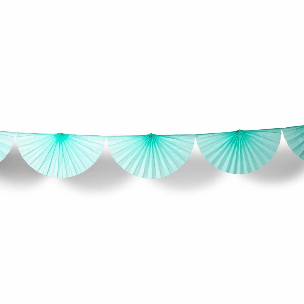 AF paper fan garland mint 3 m