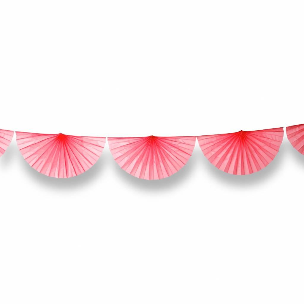 AF paper fan garland coral 3 m
