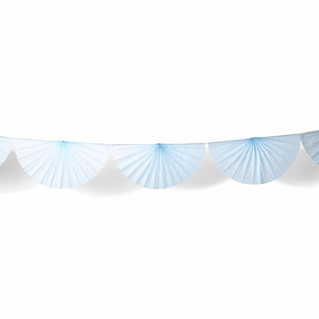 AF paper fan garland sky blue 3 m