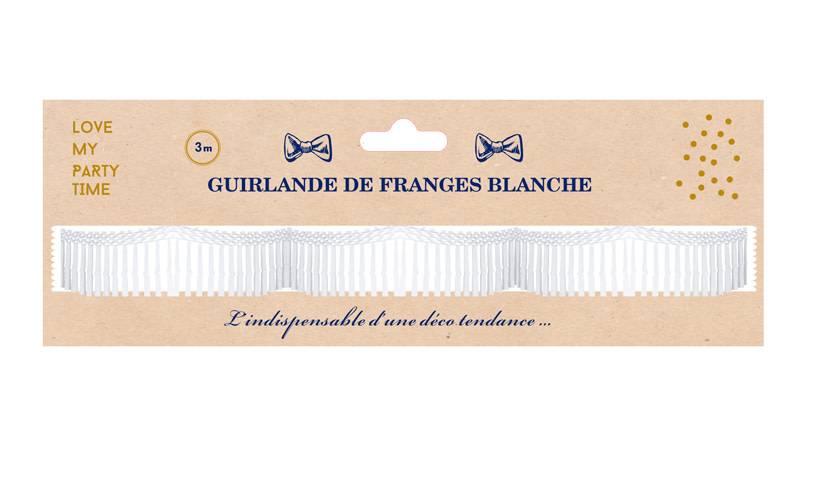 AF paper fringe garland pink 3 m x 70 cm