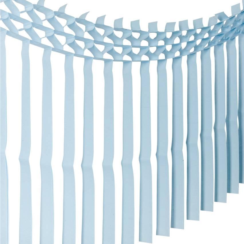 AF paper fringe garland sky blue 3 m x 70 cm