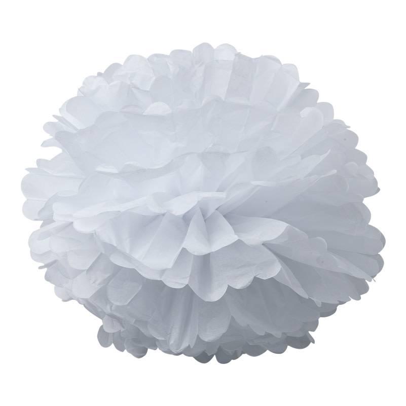 AF 2 paper pompons white 40 cm & 50 cm