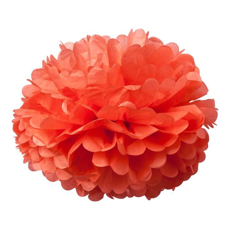 AF 2 paper pompons coral 40 cm & 50 cm